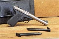 EASY PAY $27 DOWN Ruger MKIII PRO Bull Barrel Model easy to mount optics  22/45 HANDGUN rimfire CALIBER .22 Long Rifle Cheap ammo TARGET MARK 3   Mark III   Stainless Steel 22 CAL SS 22 LR polymer checkered grip 10110