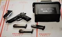 1. EZ PAY $90 Beretta USA CORP M9A3 member of the M9 family CAP  17+1 Removeable Night Sights G Semi-Auto 9mm SA/DA 5.2
