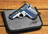 EASY PAY $89 DOWN LAYAWAY 12 MONTHLY PAYMENTS Kimber Micro 9 Concealed carry self defense Target Sapphire engraved scroll accents Pistol pocket KIM/3300111   PVD finish 9MM, 3.15