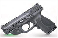 Smith & Wesson M&P 9mm M2.0 Compact Crimson Trace Laserguard Green 15+1