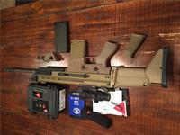 SCAR 17 with Trijicon ACOG TA31F and LaRue mountFN mags / upgraded grip / Magpul