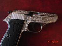 Walther PPK/S 22LR, fully Flannery Engraved,double action,2 mags,made in Germany,NIB manual etc.awesome work of art-way nicer in person