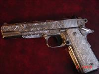 Para Ordnance P16, 40 S&W,fully over the top engraved & polished by Flannery Engraving,engraved Aluminum grips,5