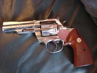 Colt Trooper MK III,bright high polished nickel,4