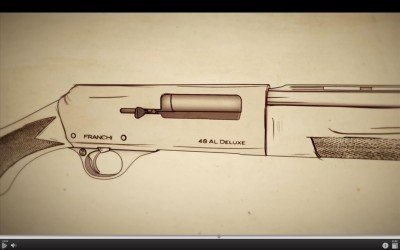 The 48 AL is a long-recoil action. You can see in this illustration that the barrel moves backward with the bolt.