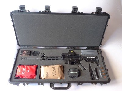 Stag's Executive Survival Kit, or ESK, has many basic items needed for short-term survival.