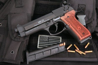 Truly a beautiful gun with the wooden grips