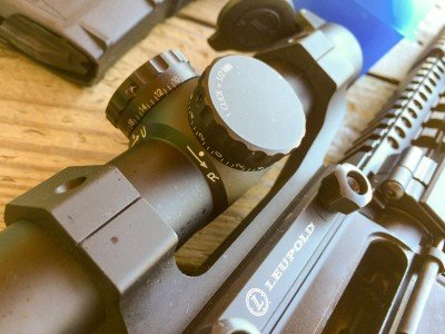 The Leupold's dials are large, positive and have good visual indicators.