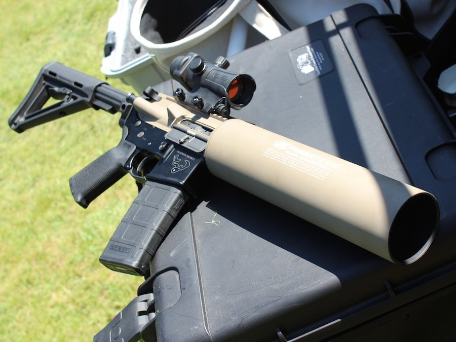 Best Fun Gun Ever The Can Cannon Mounts On Ar 15
