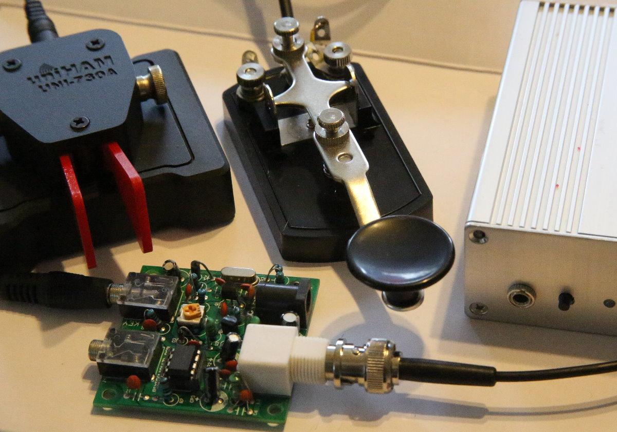 Assembled S-PIXIE CW QRP Ham Amateur Shortwave Radio Transceiver 7.023Mhz Case
