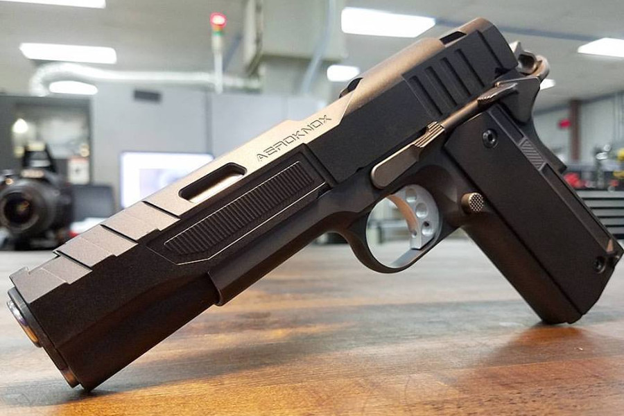 Aeroknox Showing Off Futuristic 1911 Slides and Grips