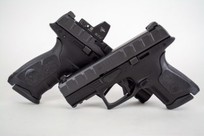 Beretta's APX pistol is now a family. The standard, Compact, and Centurion (not shown).