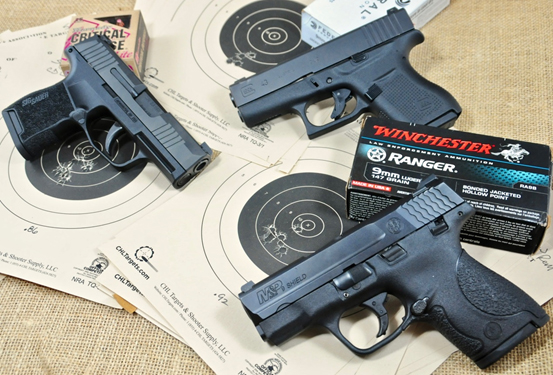 9mm Micro Shootout Sig P365 Vs Glock 43 Vs S W Shield Gunsamerica Digest