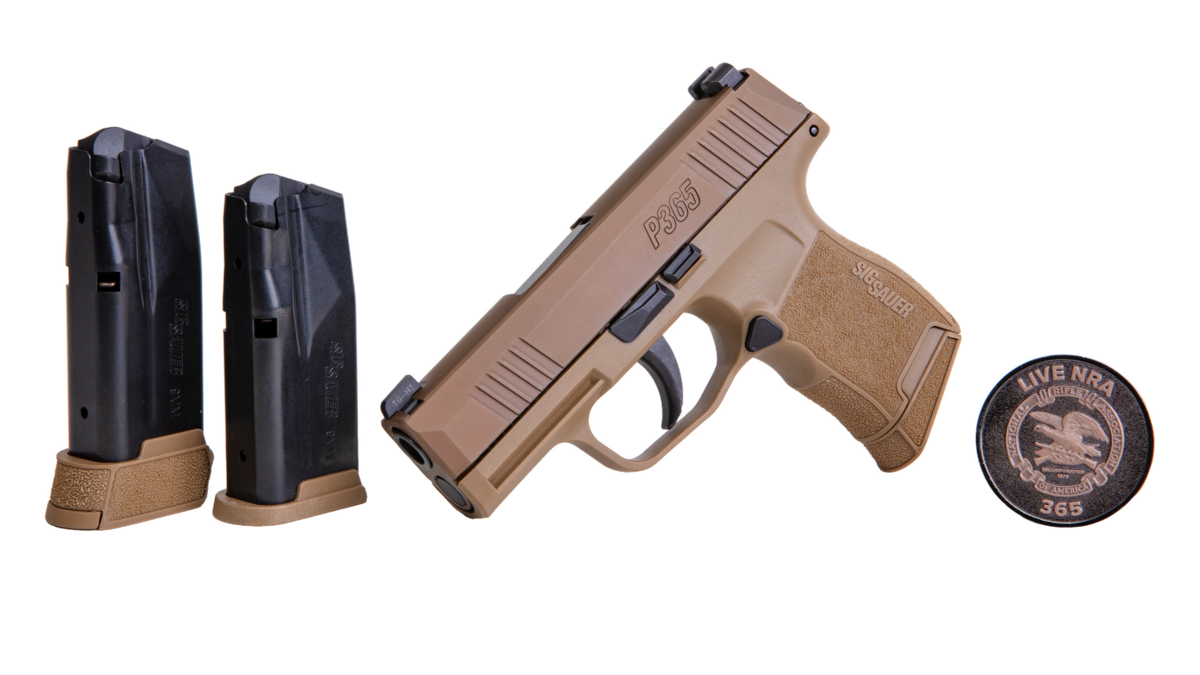 New SIG NRA P365 in Coyote Tan Exclusive from Lipsey's