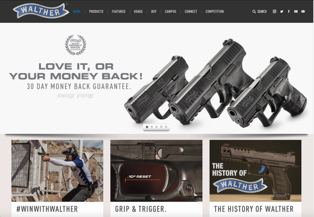 Walther Launches New Website Targeting Innovative Customer