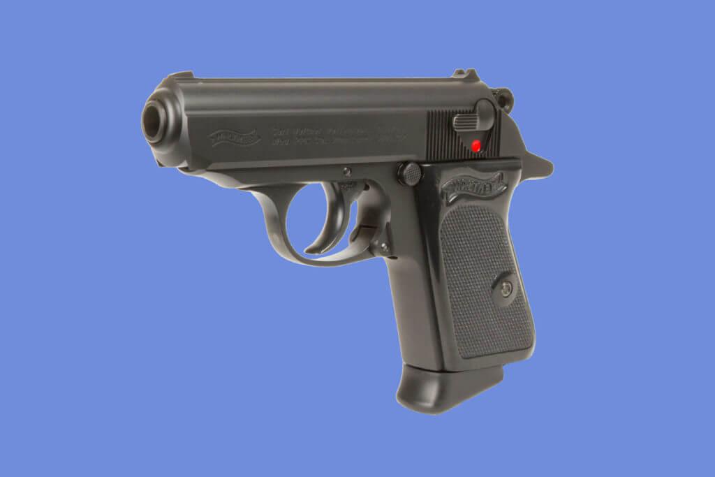 Gun Art Metal Sign Walther PPK Pistol Vintage Look
